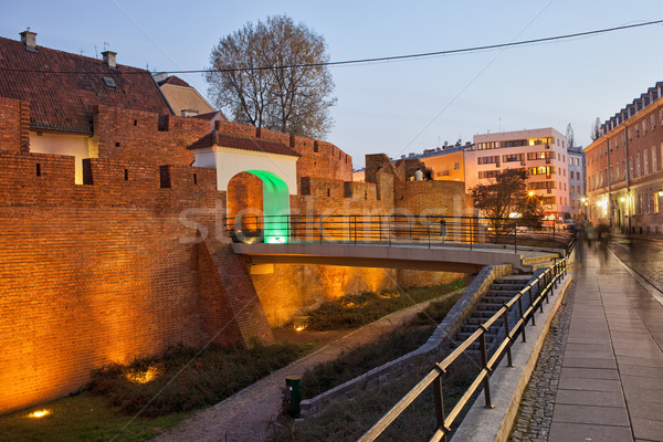 Vieille ville Varsovie fortification Pologne mur Photo stock © rognar