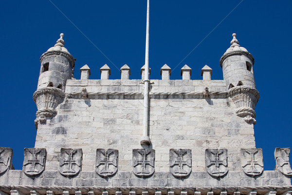 Battlements of the Belem Tower Stock photo © rognar