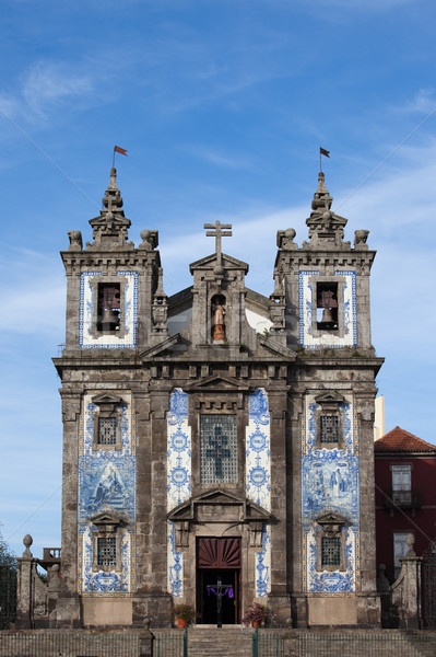 Church of Saint Ildefonso in Porto Stock photo © rognar