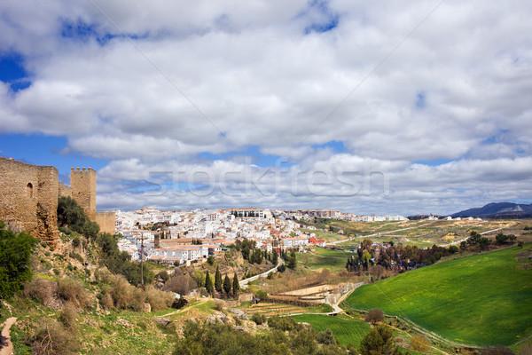Andalúzia fehér város festői vidék déli Stock fotó © rognar