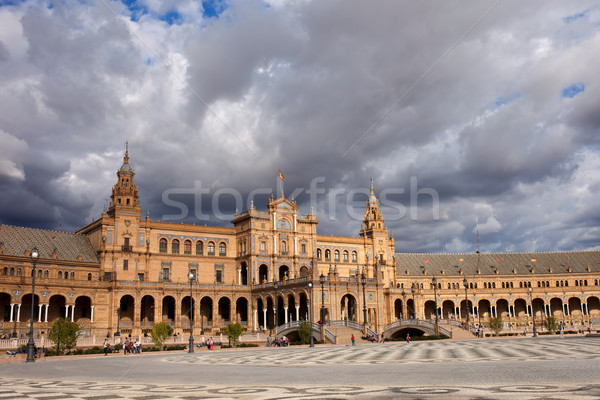 Vierkante Spanje regio herleving bouwkundig stijl Stockfoto © rognar