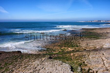 Atlantic Ocean Shore in Estoril Stock photo © rognar