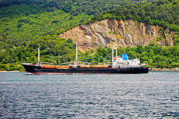 Cargo Ship on Bosporus Strait Stock photo © rognar