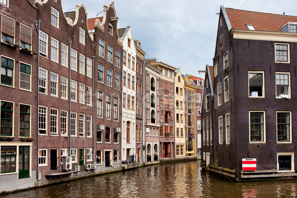 Amsterdam Canal Houses Stock photo © rognar