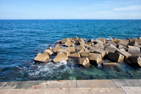 Sea Breakwater Stock photo © rognar