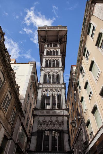 Elevador de Santa Justa in Lisbon Stock photo © rognar
