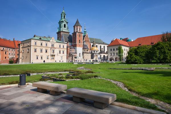 Cathédrale cracovie ville jardin royal château Photo stock © rognar