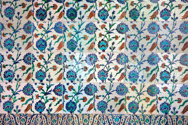Iznik Ceramics with Floral Design Stock photo © rognar