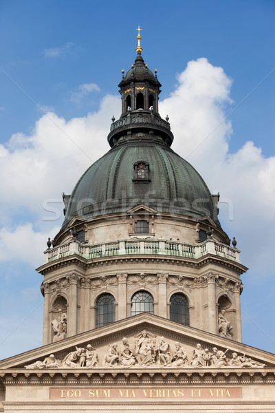 St. Stephen's Basilica Dome in Budapest Stock photo © rognar