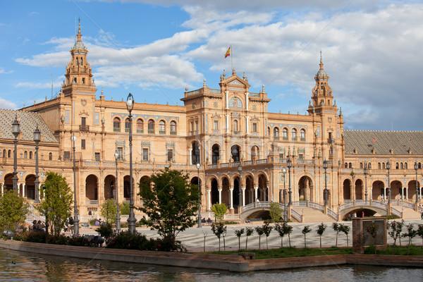 Vierkante Spanje herleving bouwkundig stijl gebouw Stockfoto © rognar