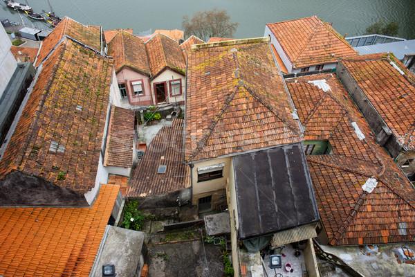 Stockfoto: Daken · traditioneel · huizen · oude · gebouw