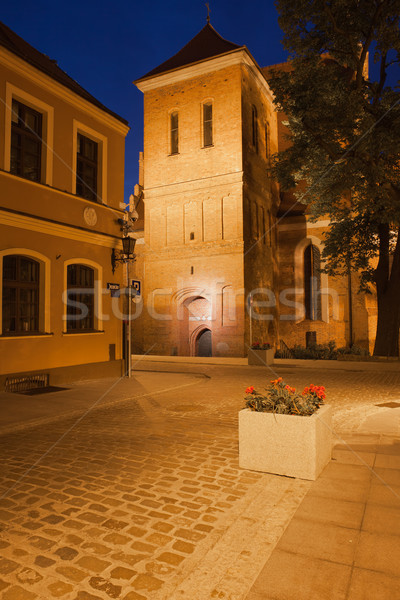 Cathedral in the Old Town of Bydgoszcz at Night Stock photo © rognar