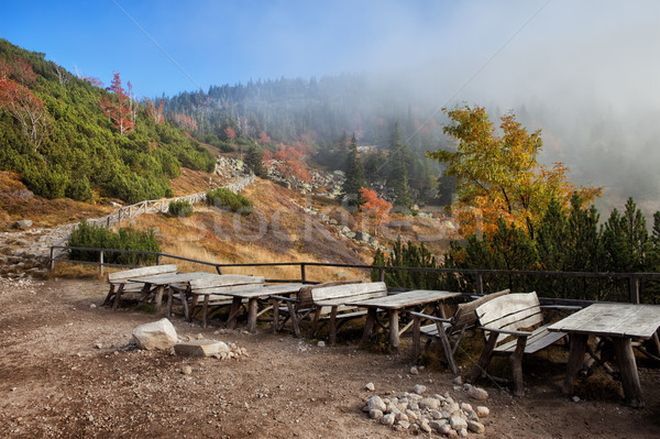 Karkonosze Mountains Autumn Landscape Stock photo © rognar