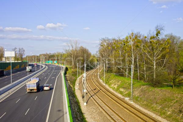 Utca vasút városi infrastruktúra autópálya díszlet Stock fotó © rognar