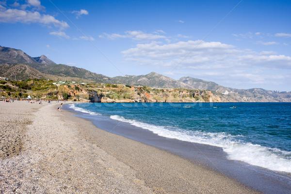 Tengerpart Andalúzia régió Malaga égbolt természet Stock fotó © rognar