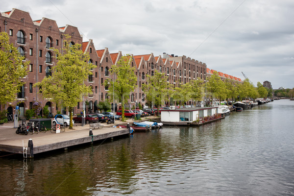 Apartment Buildings on Entrepotdok in Amsterdam Stock photo © rognar