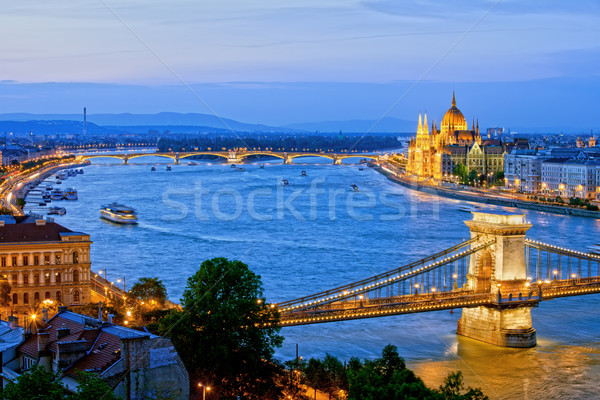 Evening in Budapest Stock photo © rognar