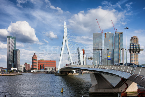 City of Rotterdam Skyline in Netherlands Stock photo © rognar