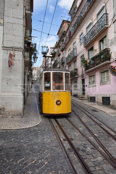 Bica Funicular in Lisbon Stock photo © rognar