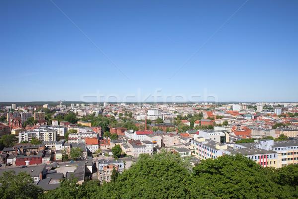 Cityscape Polonya şehir binalar evler Stok fotoğraf © rognar