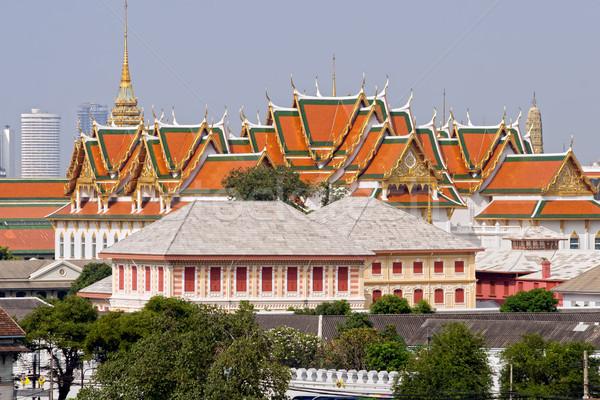 Saray Bangkok mimari Tayland seyahat Asya Stok fotoğraf © rognar