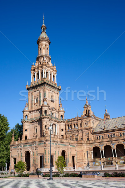 Plaza de Espana Tower in Seville Stock photo © rognar