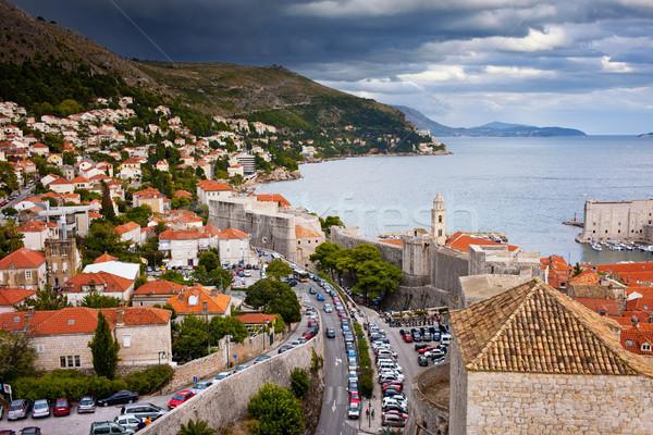 市 ドゥブロブニク 景観 海 クロアチア 家 ストックフォト © rognar