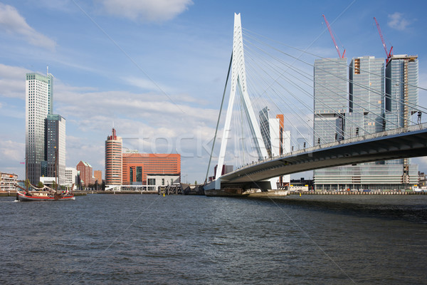 City of Rotterdam Downtown Skyline in Netherlands Stock photo © rognar