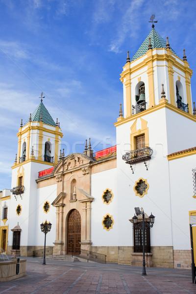 Church of Socorro in Ronda Stock photo © rognar