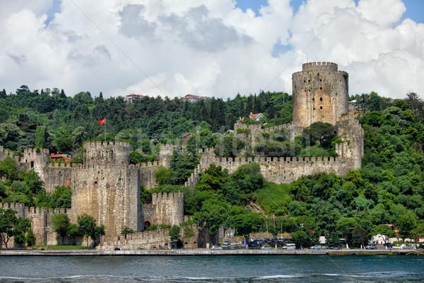 Rumeli Hisari by the Bosphorus Strait in Istanbul Stock photo © rognar