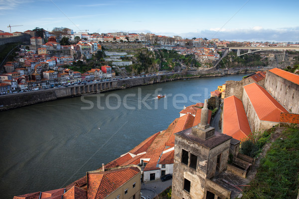 Porto and Vila Nova de Gaia Cityscape Stock photo © rognar