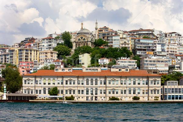 Isztambul városkép kerület Törökország víz ház Stock fotó © rognar
