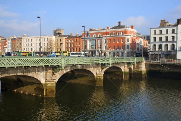 Híd Dublin folyó Írország ház épület Stock fotó © rognar