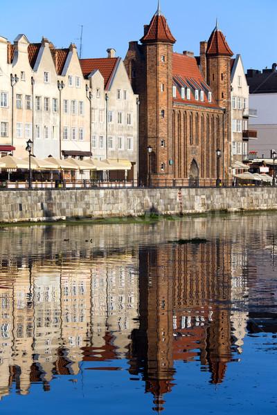 Cancello danzica fiume città vecchia Polonia acqua Foto d'archivio © rognar