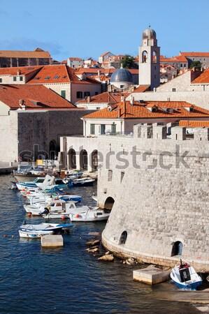Kikötő Dubrovnik Horvátország kilátás öreg város Stock fotó © rognar