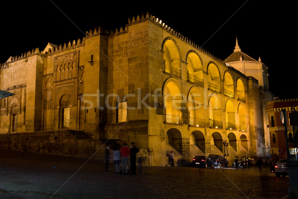 Mezquita at Night in Cordoba Stock photo © rognar