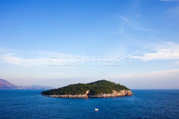 Lokrum Island on the Adriatic Sea Stock photo © rognar