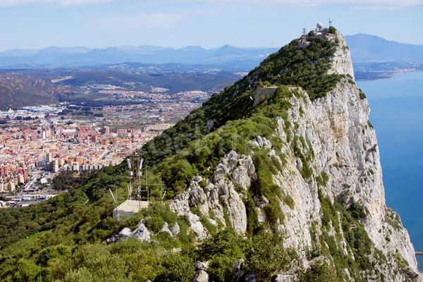 Gibraltar rock la miasta Hiszpania morze Śródziemne Zdjęcia stock © rognar