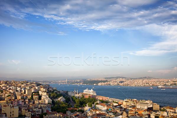 Istanbul Cityscape in Turkey Stock photo © rognar