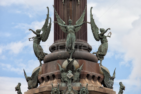 Stock photo: Pedestal of Columbus Monument in Barcelona
