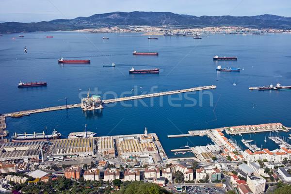 Gibraltar cais acima cidade Espanha horizonte Foto stock © rognar