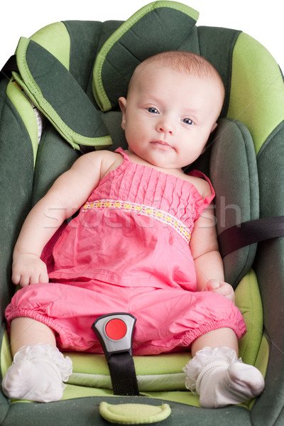 Baby Girl in a Car Seat Stock photo © rognar