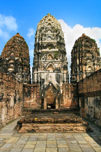 ストックフォト: 寺 · 建設 · 自然 · 石 · アジア · アンティーク
