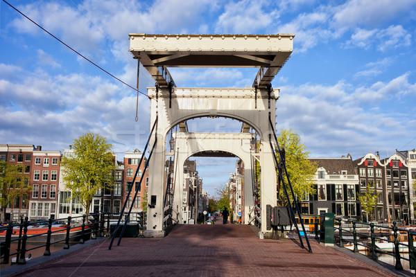スキニー 橋 アムステルダム オランダ語 川 オランダ ストックフォト © rognar