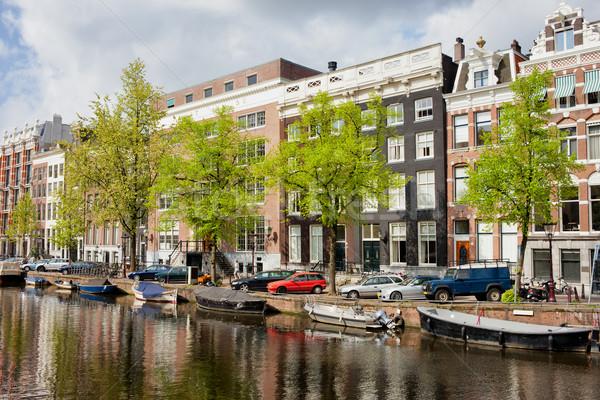 Kanal Amsterdam binalar şehir Hollanda Stok fotoğraf © rognar