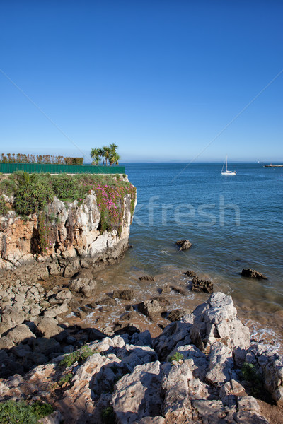 Atlantic Ocean Coast in Cascais Stock photo © rognar