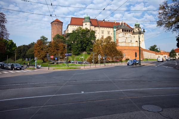 Real castillo cracovia Polonia ciudad mojón Foto stock © rognar