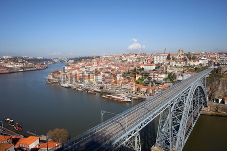 Cityscape of Porto and Vila Nova de Gaia Stock photo © rognar