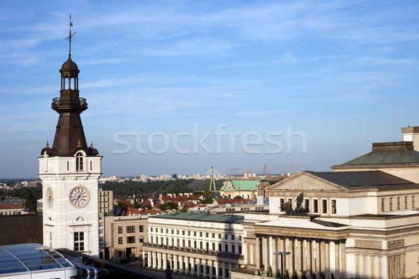 Varsavia cityscape Polonia primo piano teatro Foto d'archivio © rognar