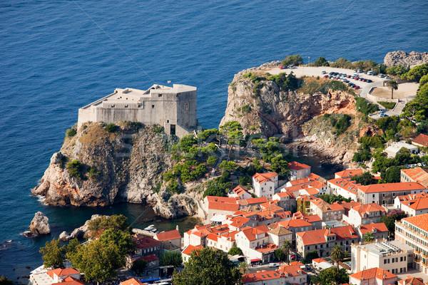 Forte dubrovnik cidade casas mar Croácia Foto stock © rognar